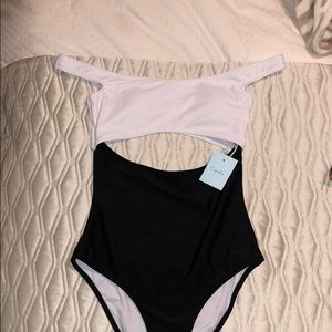 Cupshe off-shoulder one piece
